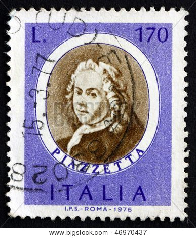 Postage Stamp Italy 1971 Giovanni Piazzetta, Rococo Painter
