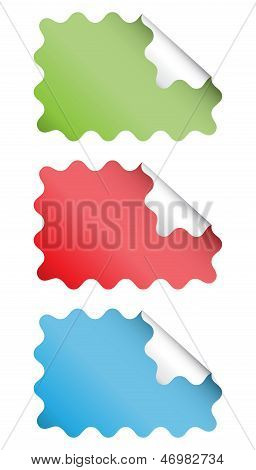 Wavy Square Stickers