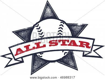 Baseball or Softball All Star Graphic