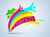 Friendship day background with two friends. poster