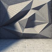 Abstract geometric background of the concrete poster
