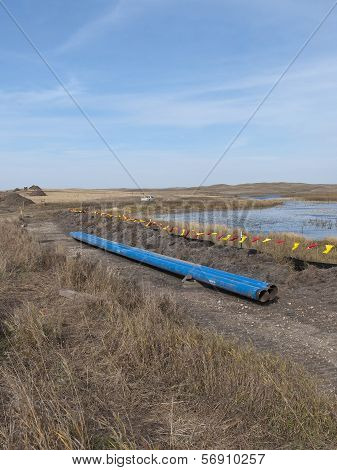 Wetland and a Pipeline
