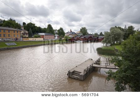 Waterfront Town In Finland