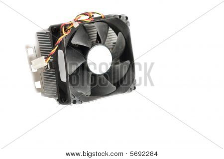 Isolated Computer Cpu Cooling Fan Needs Repair
