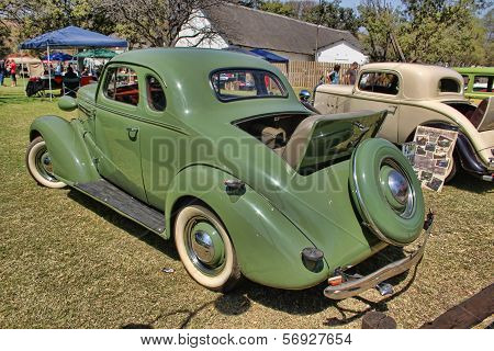 1936 Ford Two-door Coupe With Rumble Seat Rear Side View