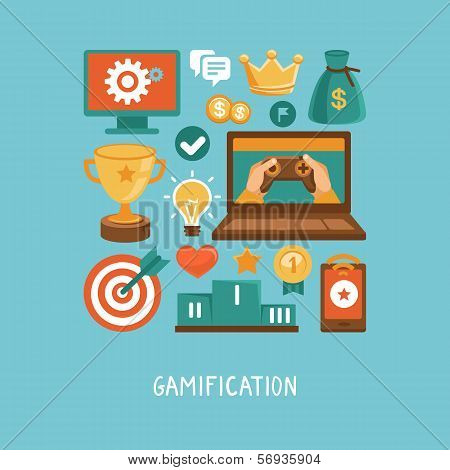 Vector Flat Concept - Gamification