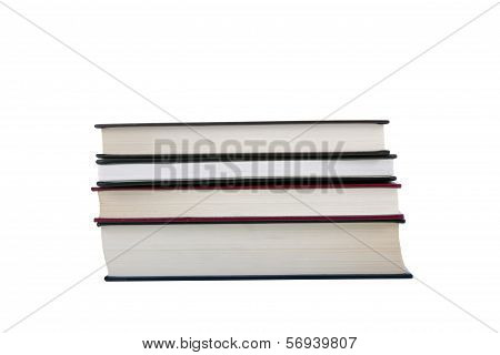 Four Books Isolated In A White Background