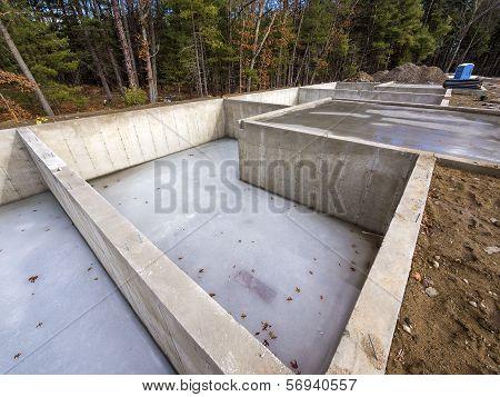 Concrete house foundations