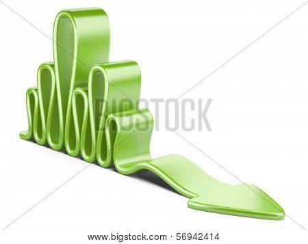 Green Wavy Concept Arrow