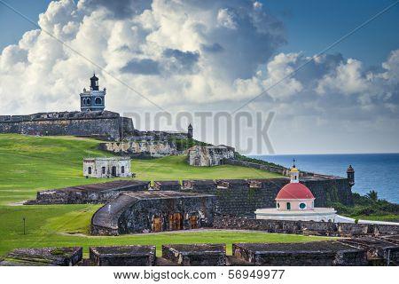 San Juan, Puerto Rico historic Fort San Felipe Del Morro. poster