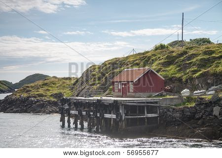 Small Harbor In Northern Norway