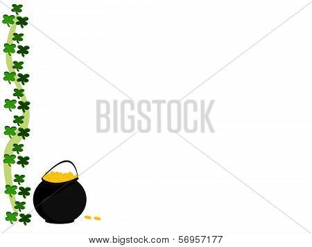 clover pot of gold ribbon