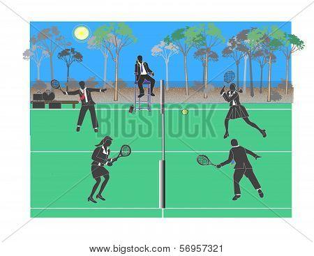 Corporate Tennis