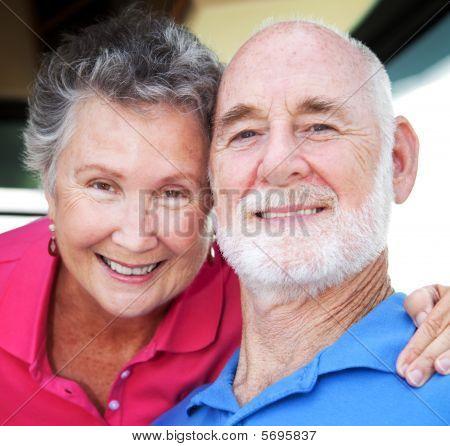 Closeup freudig Senioren