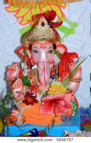 Lord Ganesha Anbetung in indische Heimat