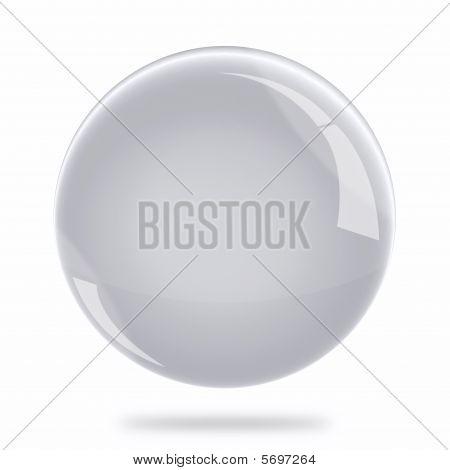 Blank Silver Sphere Float