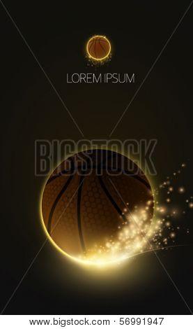 sparkling vector basketball