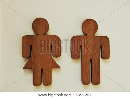 Toilet Wooden Sign
