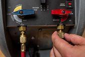 stock photo of Handyman Repairman HVAC repair tools poster