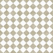 Pale Beige and White Diagonal Checkers Textured Fabric Background that is seamless and repeats poster