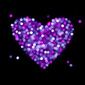 Shiny blurred heart - Valentines Day or Wedding card