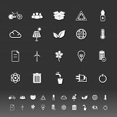 Ecology icons on gray background stock vector poster