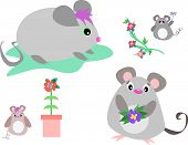 This is a mix of Mice and Flowers. poster