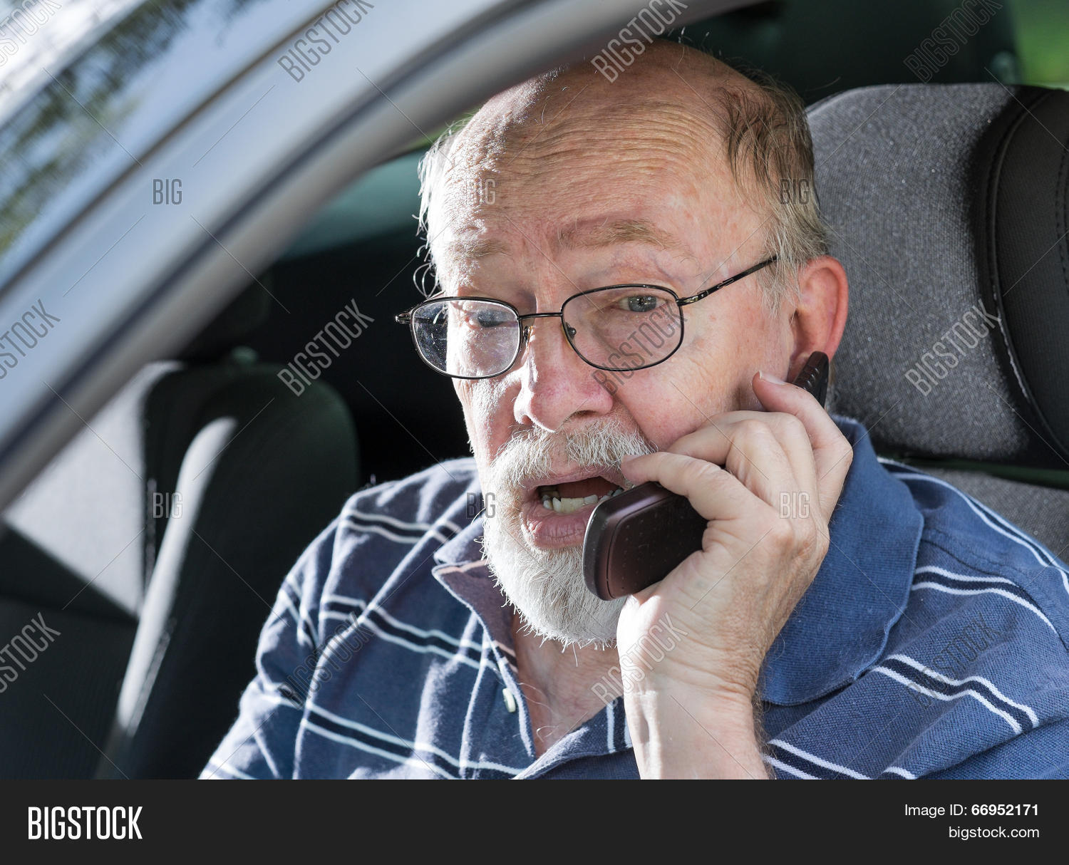 Angry Old Man Yelling Image Photo Free Trial Bigstock