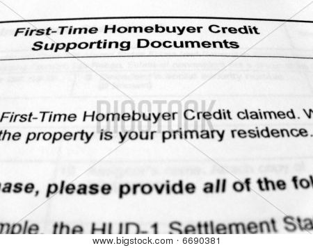 tax form First time Homebuyers