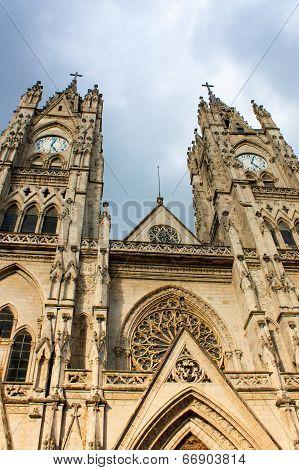 Basilica Of The National Vow In Quito Ecuador