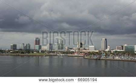 Stormy Clouds Over Long Beach