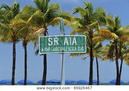 Fort Lauderdale Beach Street Sign
