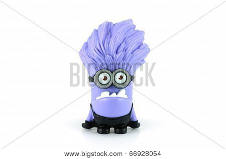 Evil Purple Minion Giggling