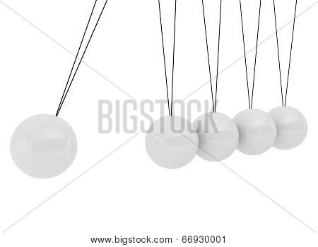 Pendulum Three-dimensional White Spheres