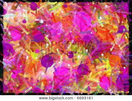 Amok On Canvas Pink Purple