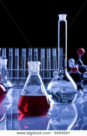 Labolatory Glassware in Blue