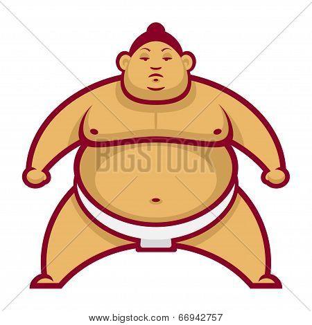 Sumo wrestler in rack