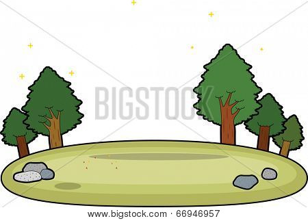 The view of camping ground  poster