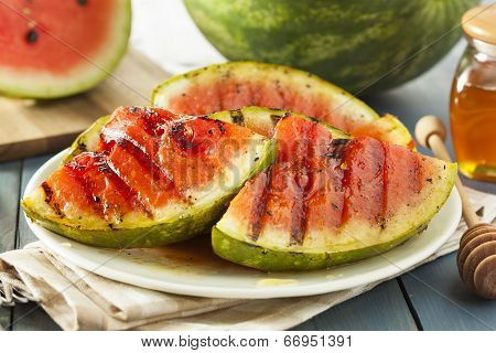 Ripe Healthy Organic Grilled Watermelon