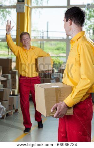 Storekeepers Doing Their Job
