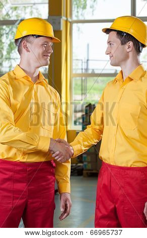 Warehouseman's Welcome In A Factory