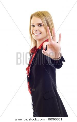 Friendly Smiling Businesswoman