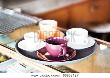 Set Of Coffee Cup For Serving