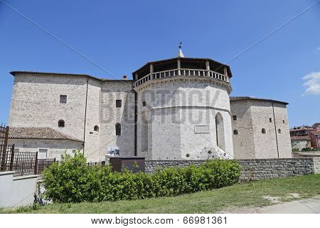 Malatesta Fortress in Ascoli Piceno - Italy poster