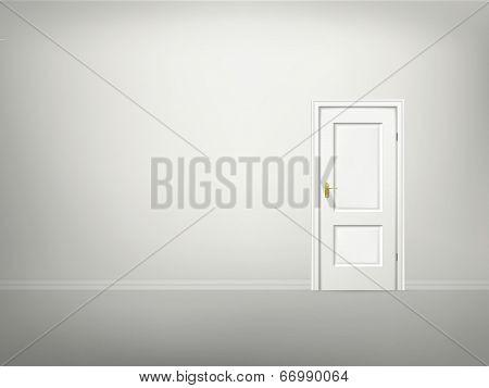 Vector 3D Door And Wall