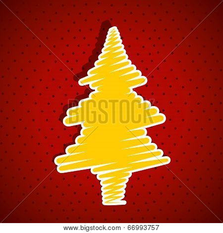 christmas tree label background vector