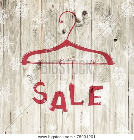 Christmas Sale Retro Poster