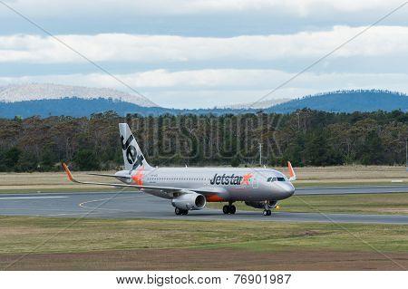 Jetstar Passenger Airliner Taxiing