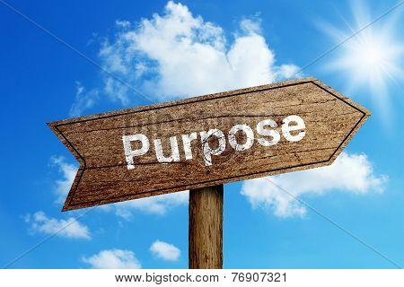 Purpose Road Sign