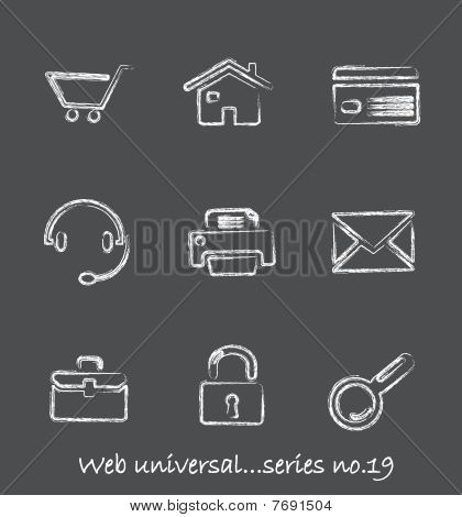Web chalkboard icons...series no.19